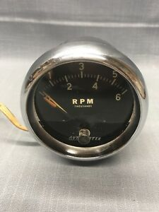 Early Vintage Auto Meter Prod Inc Tachometer Rpm Thousands Rat Rod Hot Rod