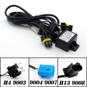 Aliens Hid Bi Xenon Headlight H4 9003 H13 9008 9004 9007 Hi Low Relay Harness