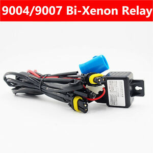 Relay Wiring Harness Cable Controller For Bi Xenon Hid Xenon Kit 9004 9007