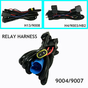 Relay Wiring Harness For High Low Beam Hid Xenon Kit For 9004 9007 H4 H13 9008