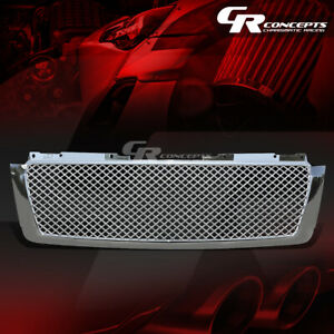 Chrome Diamond Mesh Grille grill Guard For 07 14 Chevy Tahoe avalanche suburban