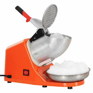 Electric Ice Crusher Shaver Machine Snow Cone Maker Shaved Ice 143 Lbs Orange