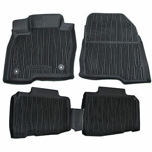 Oem New 2015 2020 Ford Edge All Weather Rubber Tray Catch All Floor Mats Black