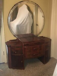Art Deco Vintage Dressing Table Or Vanity Mirror