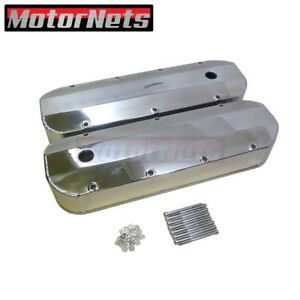 Bbc Big Block Chevy Polished Fabricated Aluminum Valve Cover 396 454 502 Tall