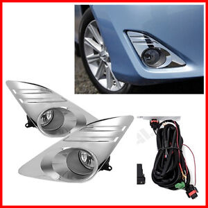 For 12 14 Toyota Camry Bumper Fog Lights Driving Lamps Set Pair Assembly Kit Oe