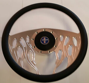 Mustang Steering Wheel Billet Leather 1965 1966 1967 Coupe Fastback Convertible