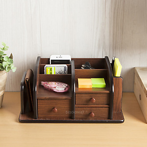Home Office Phone Stuff Holder Desktop Stationery Storage Desk Organizer