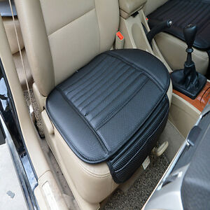 Pu Leather Auto Car Seat Cover Front Seat Padded Protector Cushion Fits Seat