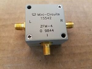 Mini circuits Zfm 4 Frequency Mixer 5 1250mhz Sma f Lo If Rf Microwave 9844