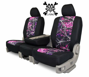Custom Fit Seat Cover For Toyota Tacoma In Moon Shine Camo Front