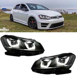Led Drl Headlights Lamps For Vw Volkswagen Golf Mk6 Gti 2008 2014 Assembly
