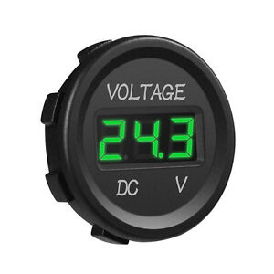 Mictuning Car Dc 12v 24v Voltmeter Green Led Digital Display Waterproof Voltage