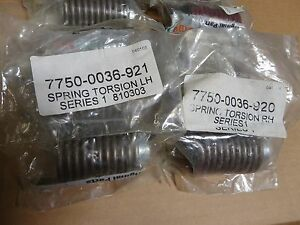 22 Westfalia Surge Randall Milker Torsion Springs 7750 0036 921 7750 0036 920