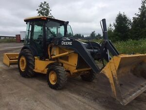 2014 John Deere 210k Loader With Rear Box Blade still Has Plastic Over The Seat