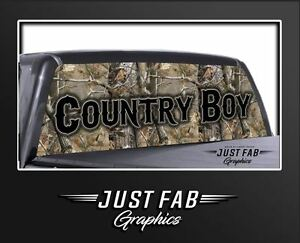 Camo Rear Real Tree Window Perf Graphic Decal Truck Sticker Chevy Ford Dodge