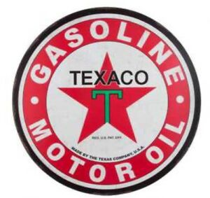 Texaco Gas Large 30 Metal Petroleum Signs Vintage Style Fire Chief Man Cave