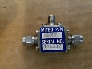 Miteq Microwave M20h8 M20 h8 Rf Frequency Mixer 4 12 7ghz Sma If Lo 124237