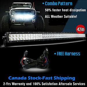 42 Inch Led Light Bar Curved Off Road Truck Boat Ford Jeep Suv 4wd Ute 4x4 40
