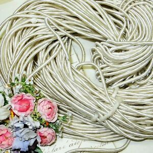1y Antique Silk Rattail Soutache Wedding Ivory White Veil Crown Tiara Doll Dres