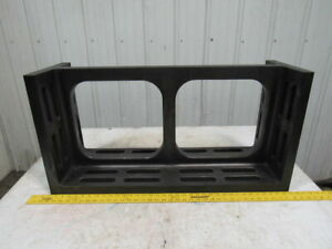 12 x18 x36 Slotted Cast Iron Angle Plate fixturing Machinist Set Up Unusual