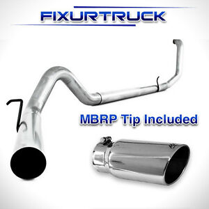 Mbrp 4 Exhaust 99 03 Ford Powerstroke 7 3l Diesel S6200plm No Muffler With Tip