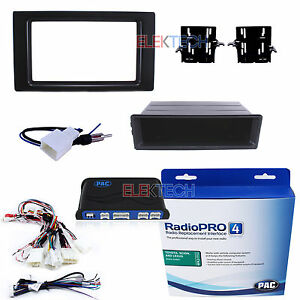 Radio Replacement Adapter W 1 Or 2 Din Dash Kit Harness Antenna For Tacoma
