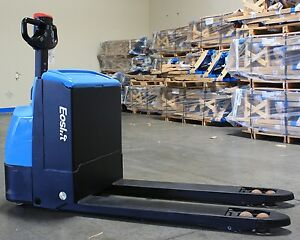 Powered Electric Walkie Pallet Truck 4400lb Capacity Eoslift W20 Used Ca Pu