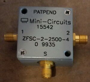 Mini circuits Zfsc 2 2500 Power Splitter Combiner 10mhz 2 5ghz Rf Microwave Sma