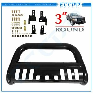 3 Front Black Bull Bar Grill Guard For 2014 17 Gmc Sierra 1500 With Skid Plate