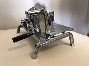 Vintage Manual Adjustable Stainless Steel Deli Meat Cheese Slicer Made In Usa