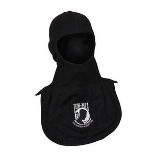 Pow Mia Embroidered Nomex Blend Flash Hood Pac Ii Majestic Firefighter Black