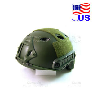 Fast PJ Style Tactical Airsoft Helmet Without Goggles Low Price OD Green USA $29.69