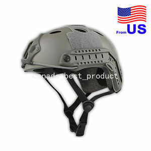 Fast PJ Style Tactical Airsoft Helmet Without Goggles Low Price Foliage USA $29.69