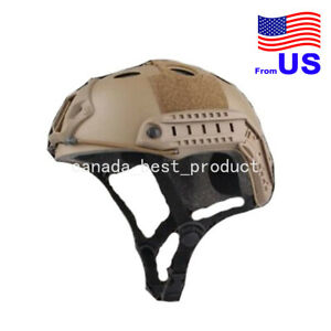 Fast PJ Style Tactical Airsoft Helmet Without Goggles Low Price DE Tan USA $29.69