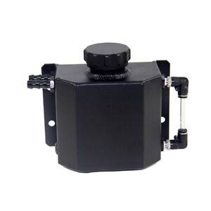 1l Aluminum Coolant Radiator Overflow Recovery Water Tank Bottle Black
