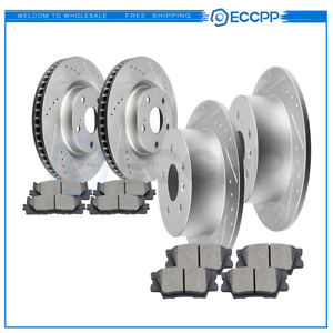 For 2007 2008 2009 2010 2011 Es350 Camry Front Rear Brake Rotors Ceramic Pads