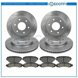 For Astro Silverado Tahoe Sierra Yukon Front Rear Brake Rotors And Ceramic Pads