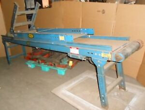 66 Plus 120 Long Hytrol Steel 18 Belt Conveyor W Reliance 1 Hp Motor