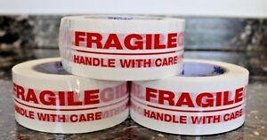 12 Roll Fragile Handle With Care 3 x110 Yds Security Sealing Tape 3in X 110yards