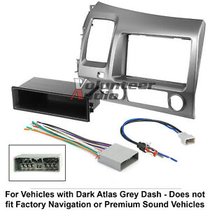 Car Radio Stereo Cd Player Dash Install Mounting Trim Bezel Panel Kit Harness