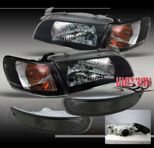 1993 1997 Toyota Corolla Crystal Style Headlights Lamps W Corner Bumper Signal