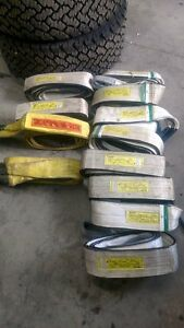 4 x10 Polyester Lifting Sling 22000 Lbs Basket Pounds 4 Inch 10 Foot