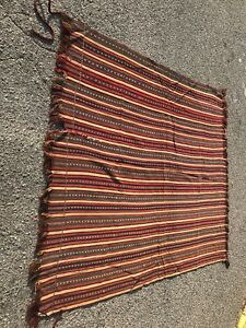 Turkish Handmade Old Kilim 77 64 100 Wool