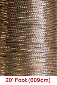20 Feet X 0 35 Wide Copper Ground Strap Cable wire Flat Braided Usa Made