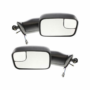 New Set Of 2 Power Flip Towing Mirror For Dodge Ram 1500 2500 3500 1994 1997