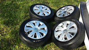 16 Volkswagen Vw Beetle Jetta Oem Factory Stock Wheels Rims Hubcaps 5x112 Tires