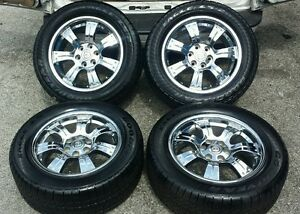 Tahoe Silverado Escalade Yukon Chevrolet Chrome Oem Tires 20 Wheels Gmc Yukon