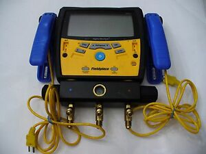 Fieldpiece Sman340 Digital Manifold With 3 Yellow Jackey Hoses And 2 Clamp