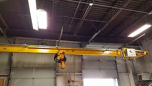 Harrington 2 Ton Hoist With I Beam Track
